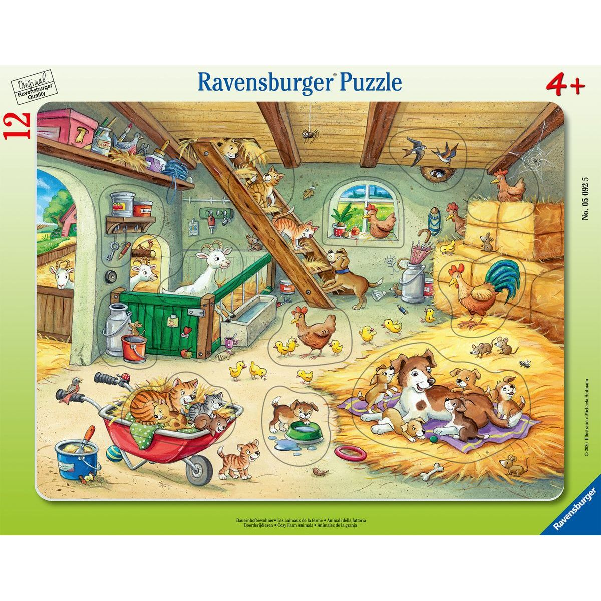 Ravensburger puzzle 050925 Psy a mačky 12 dielikov