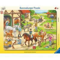 Ravensburger puzzle 061648 Na konské farme 40 dielikov