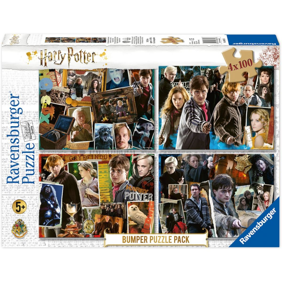 Ravensburger puzzle 068326 Harry Potter set 4x100 dielikov