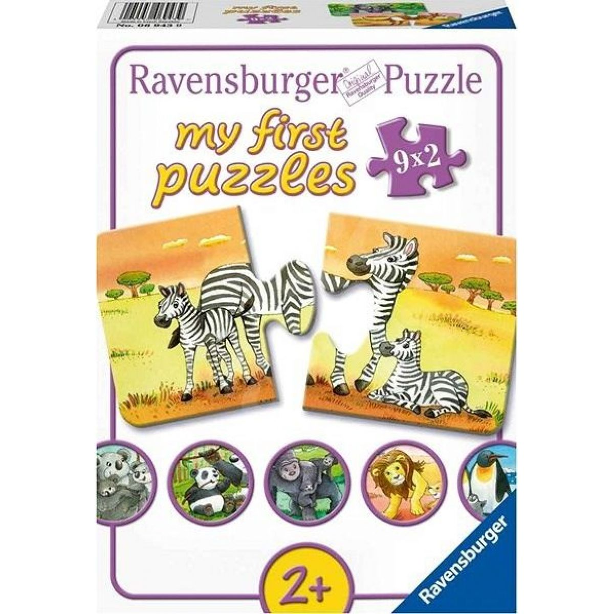 Ravensburger 069439 Zvířecí rodinky 9x2 dílků