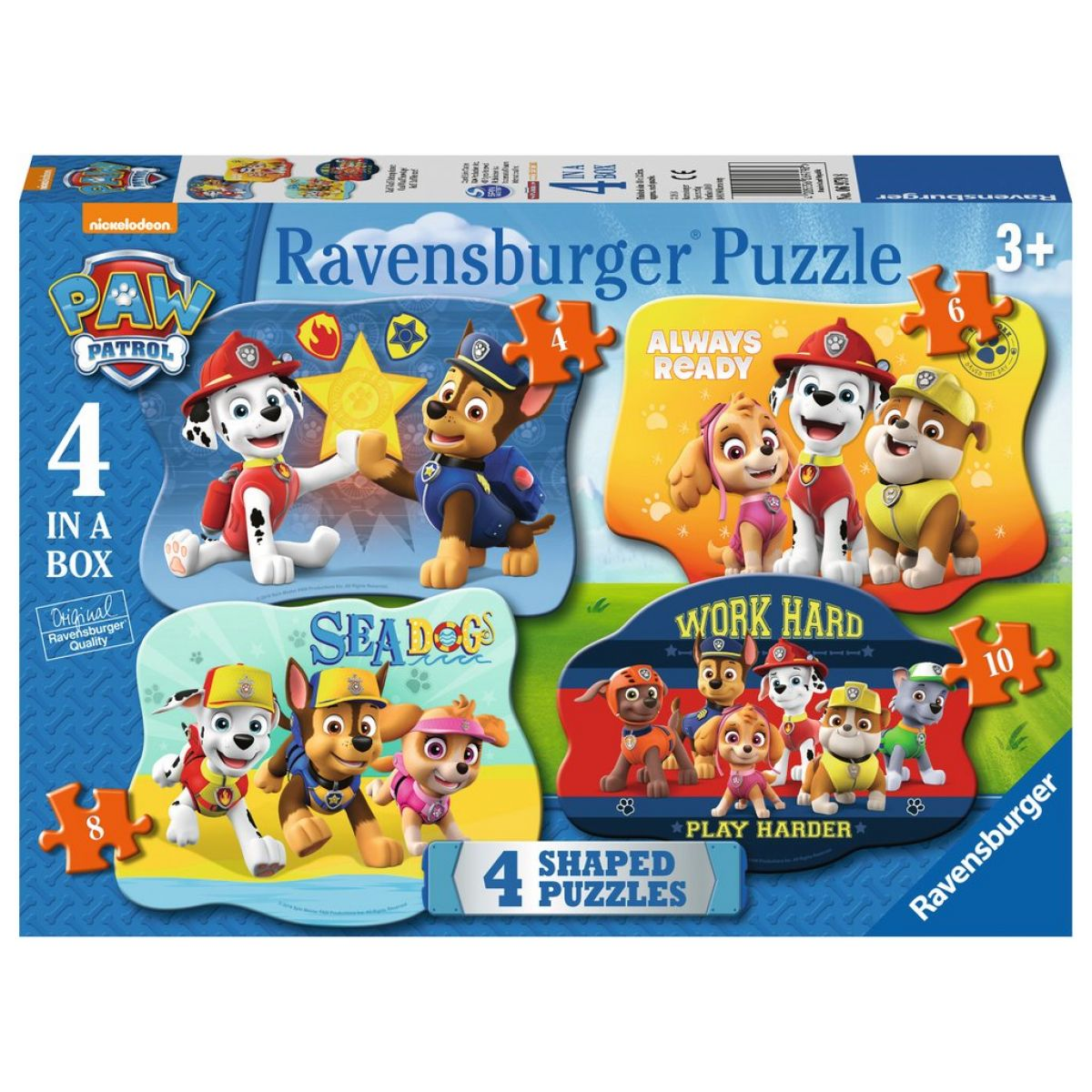Ravensburger puzzle 069798 4v1 Tlapková patrola 4 6 8 10 dielikov