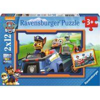 Ravensburger puzzle 075911 Tlapková Patrola v nasadení 2x12 dielikov