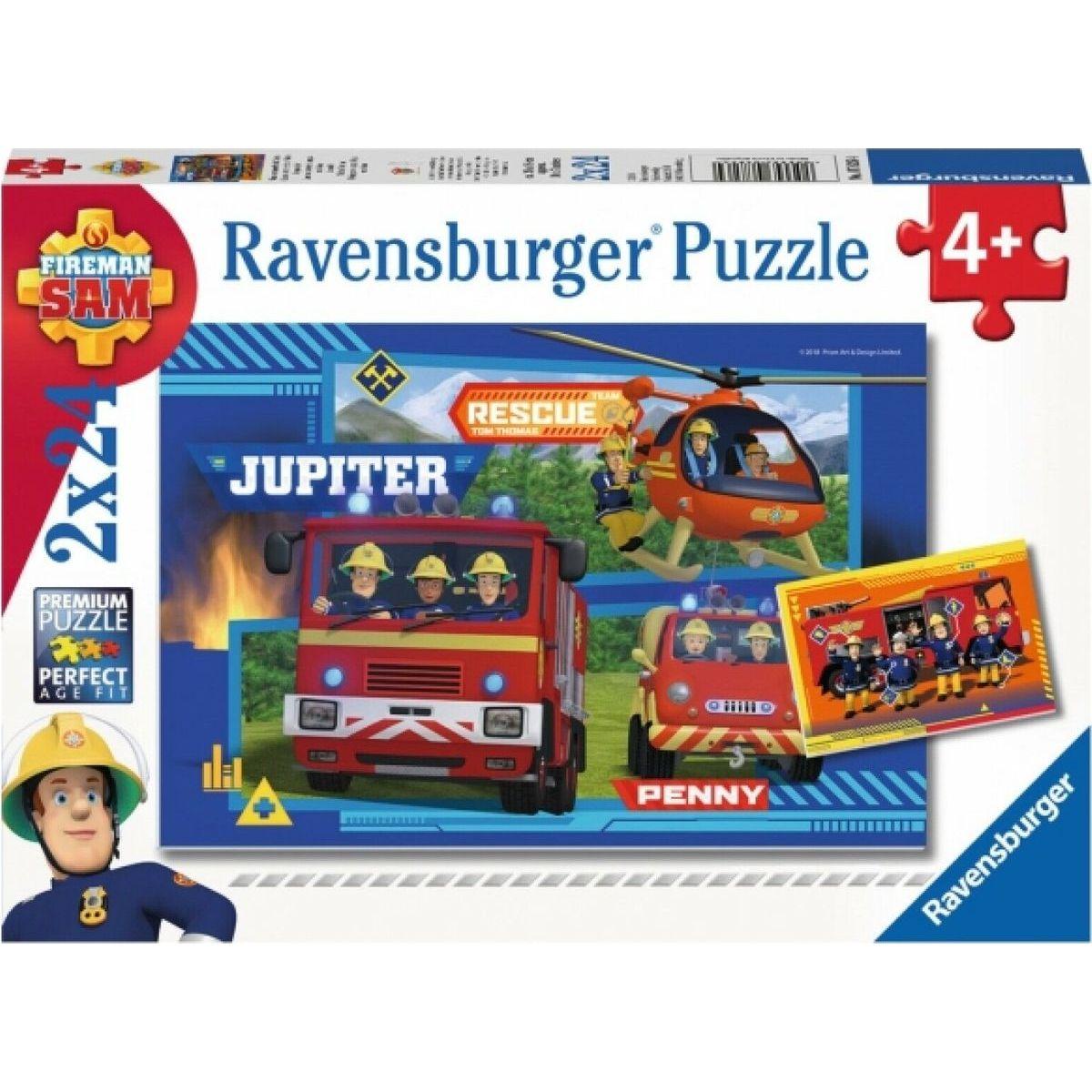 Ravensburger puzzle 078264 Požiarnik Sam Poďme hasiť 2x24 dielikov