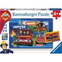 Ravensburger puzzle 078264 Požárník Sam Pojďme hasit 2x24 dílků