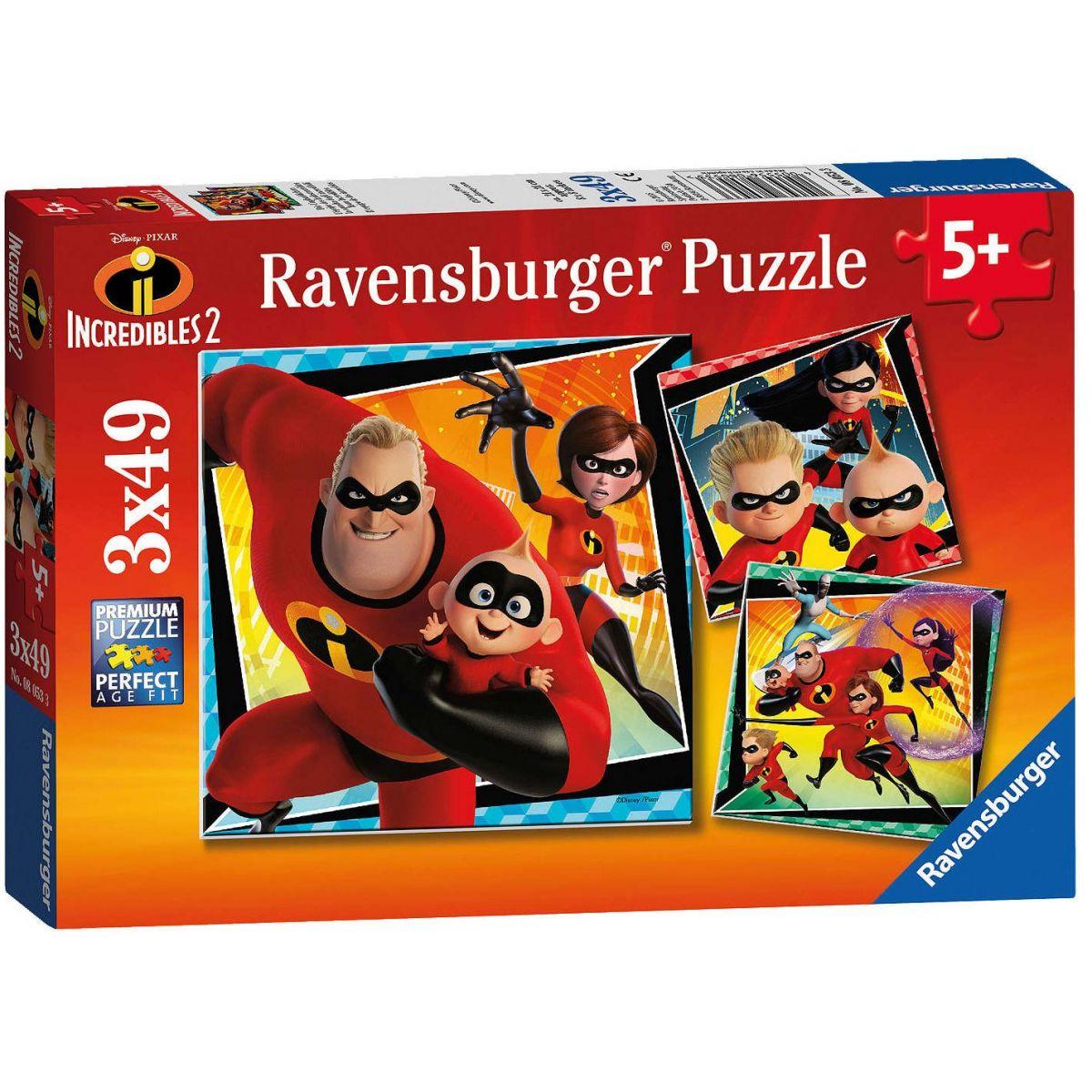 Ravensburger Puzzle Rodinka Úžasných 3 x 49 dielikov