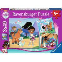 Ravensburger puzzle 080564 Nella princezna rytířů 3x49 dílků
