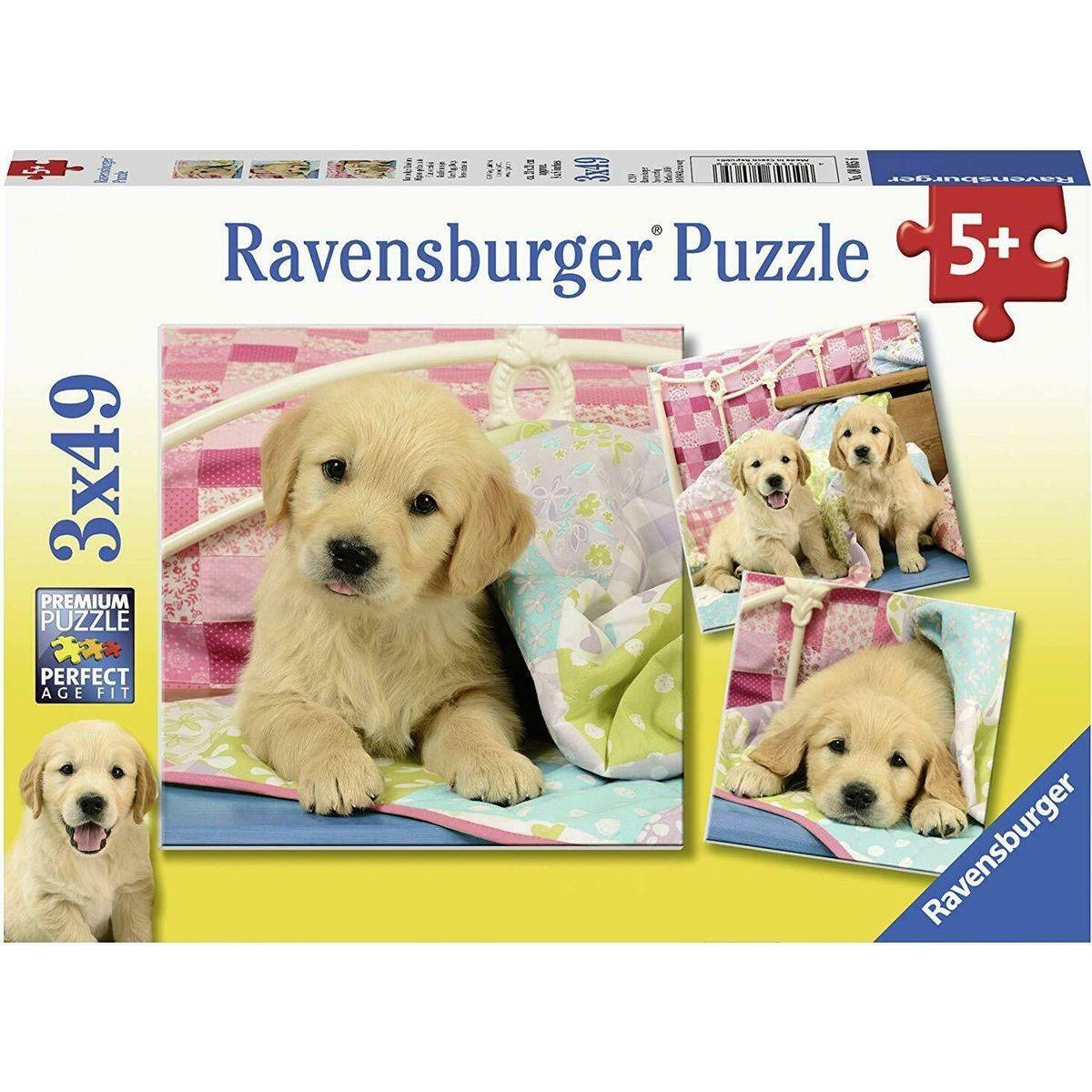 Ravensburger puzzle 080656 Krásna šteniatka 3x49 dielikov