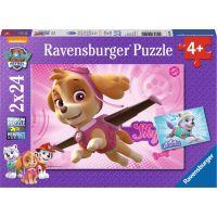 Ravensburger puzzle 091522 Tlapková Patrola 2x24 dílků