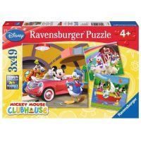 Ravensburger Puzzle Mickeyho Klubík 3 x 49 dielikov