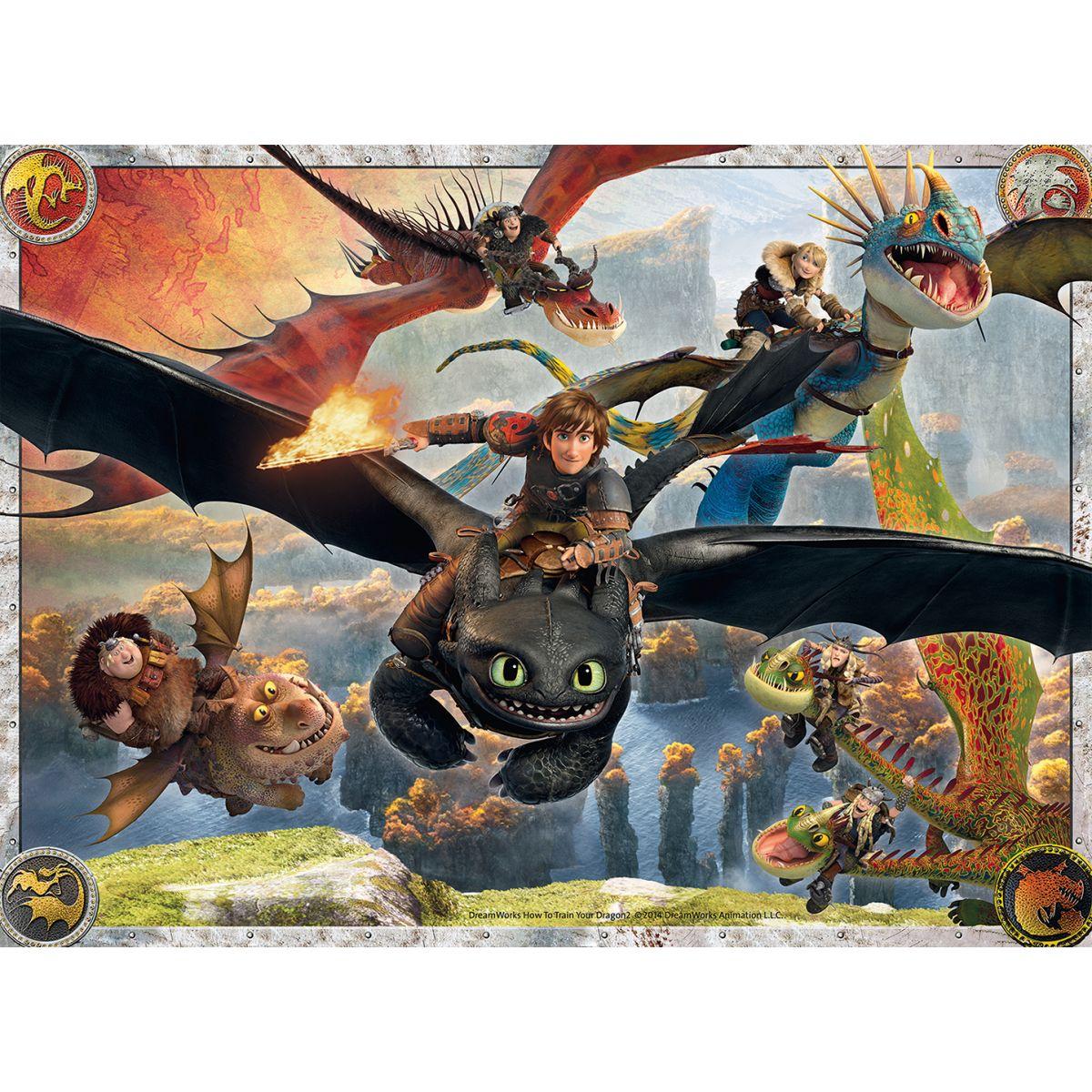 Ravensburger puzzle 100156 Ako vycvičiť draka Vycvičení draci 150 dielikov
