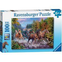 Ravensburger puzzle 104031 Běžící koně 100 XXL dílků