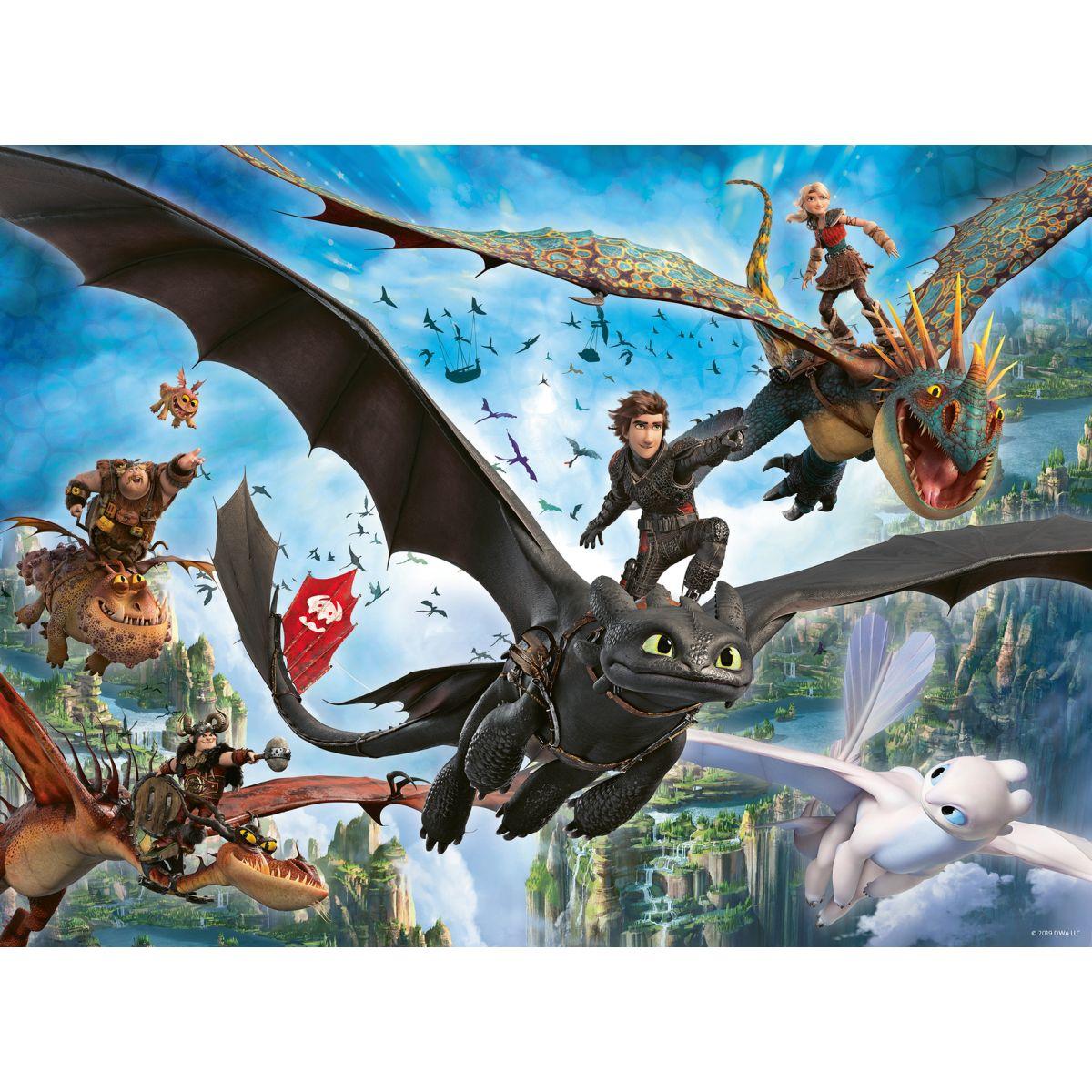 Ravensburger puzzle 109555 Ako vycvičiť draka 3 100 dielikov