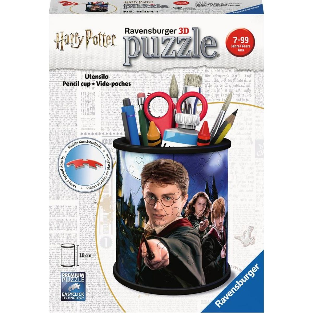 Ravensburger puzzle 111541 Stojan na ceruzky Harry Potter 54 dielikov