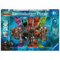 Ravensburger puzzle 126293 Ako vycvičiť draka 3 Dračí jazdci 200 dielikov