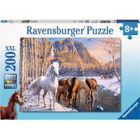 Ravensburger puzzle 126903 Koně v zimě 200 XXL dílků