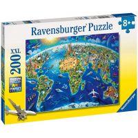 Ravensburger Veľká mapa sveta 200 XXL dielov