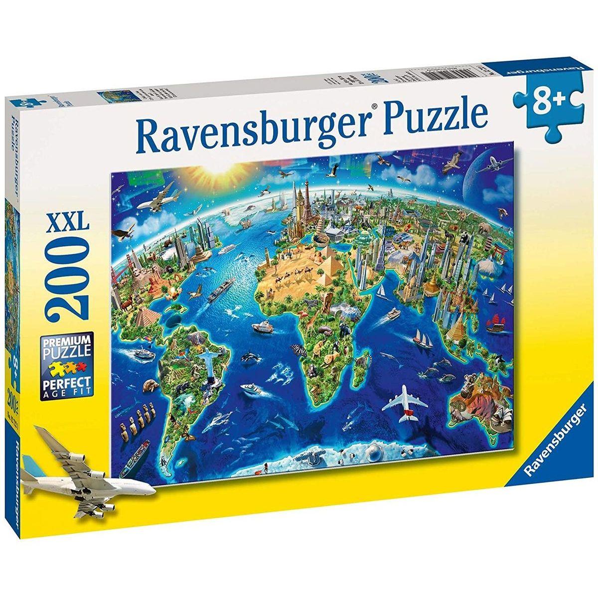 Ravensburger Veľká mapa sveta 200 dielov