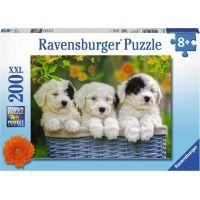 Ravensburger puzzle 127658 Mazlivá štěnata 200 XXL dílků