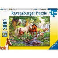 Ravensburger puzzle 129041 Kone pri rieke 300 XXL dielikov