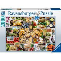 Ravensburger puzzle 150168 Koláž s jídlem 2000 dílků