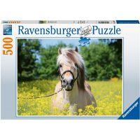 Ravensburger puzzle 150380 Biely kôň 500 dielikov