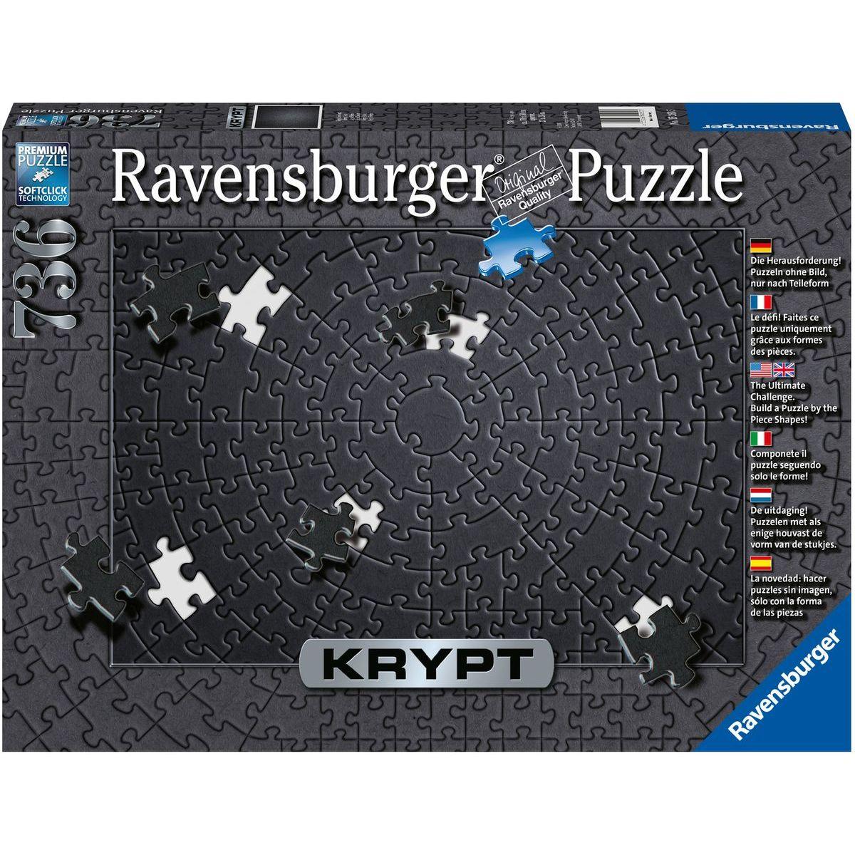 Ravensburger puzzle 152605 krypta - Black 736 dielikov