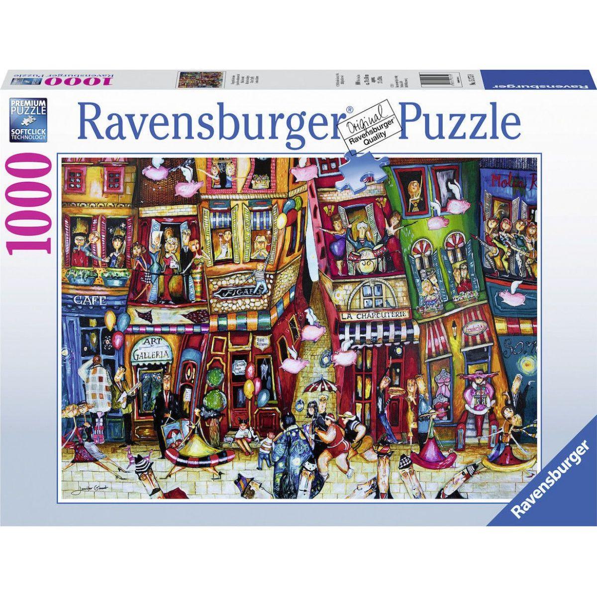 Ravensburger puzzle 152759 Keď prasa lieta 1000 dielikov