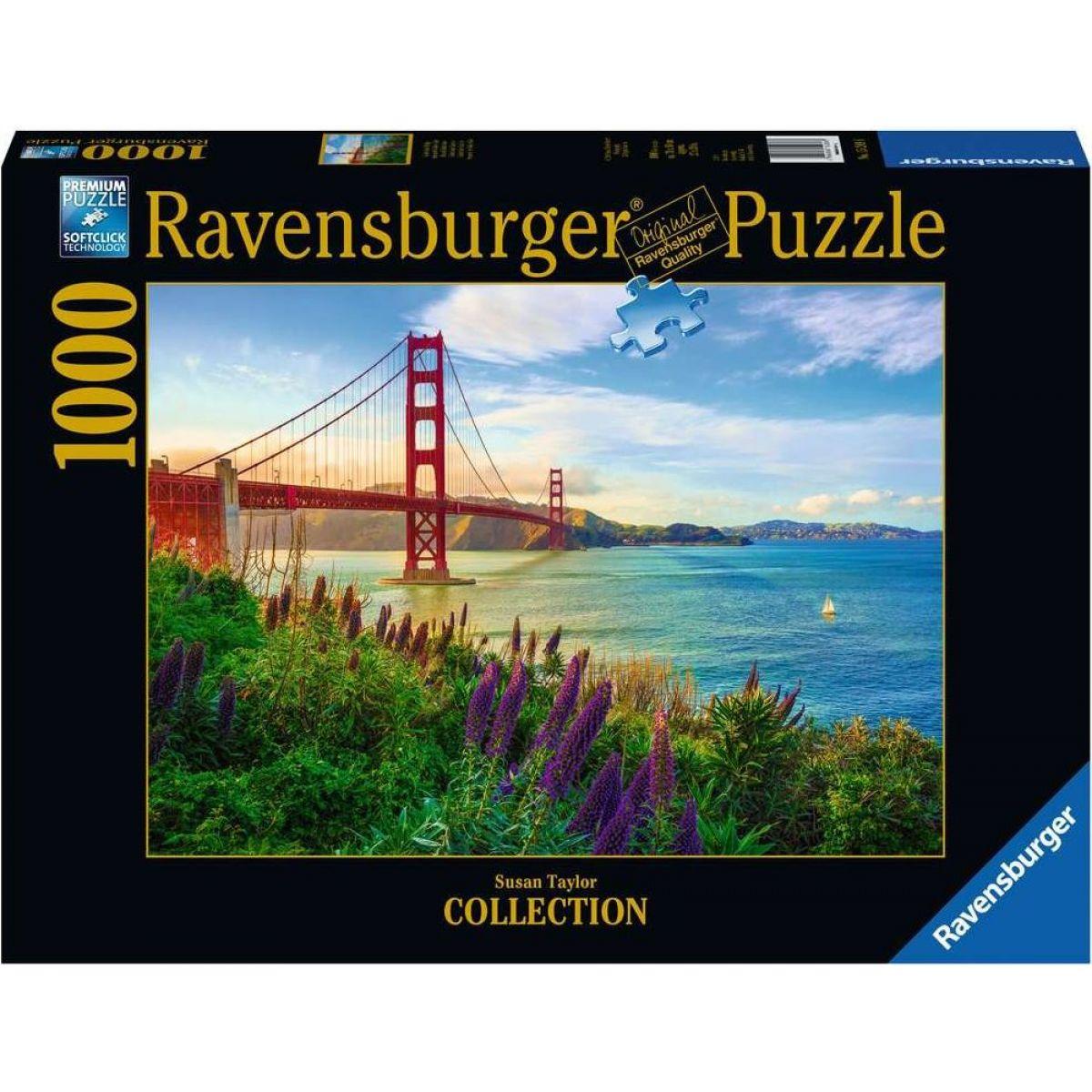 Ravensburger puzzle 152896 Západ slnka pri Golden Gate 1000 dielikov