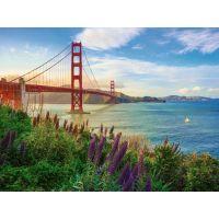 Ravensburger puzzle 152896 Západ slnka pri Golden Gate 1000 dielikov 2