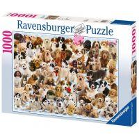 Ravensburger Puzzle Psíci koláž 1000 dielov 2