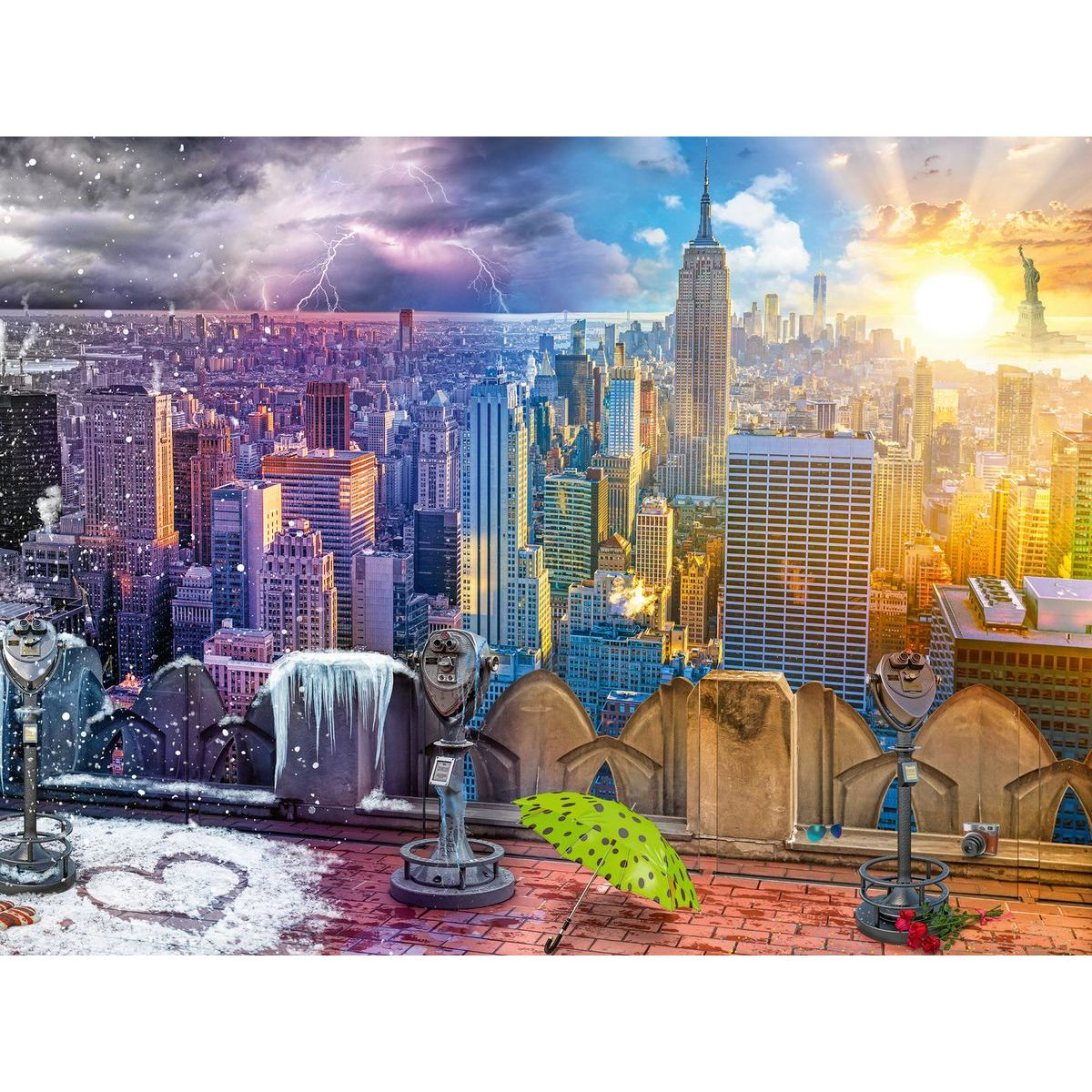 Ravensburger puzzle 160082 Mrakodrapy New Yorku 1500 dielikov