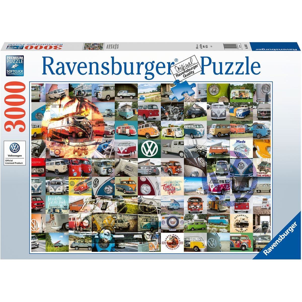 Ravensburger puzzle 160181 99 VW Bulli momentov 3000 dielikov
