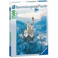 Ravensburger Zámok Neuschwanstein v zime 1500 dílků 2