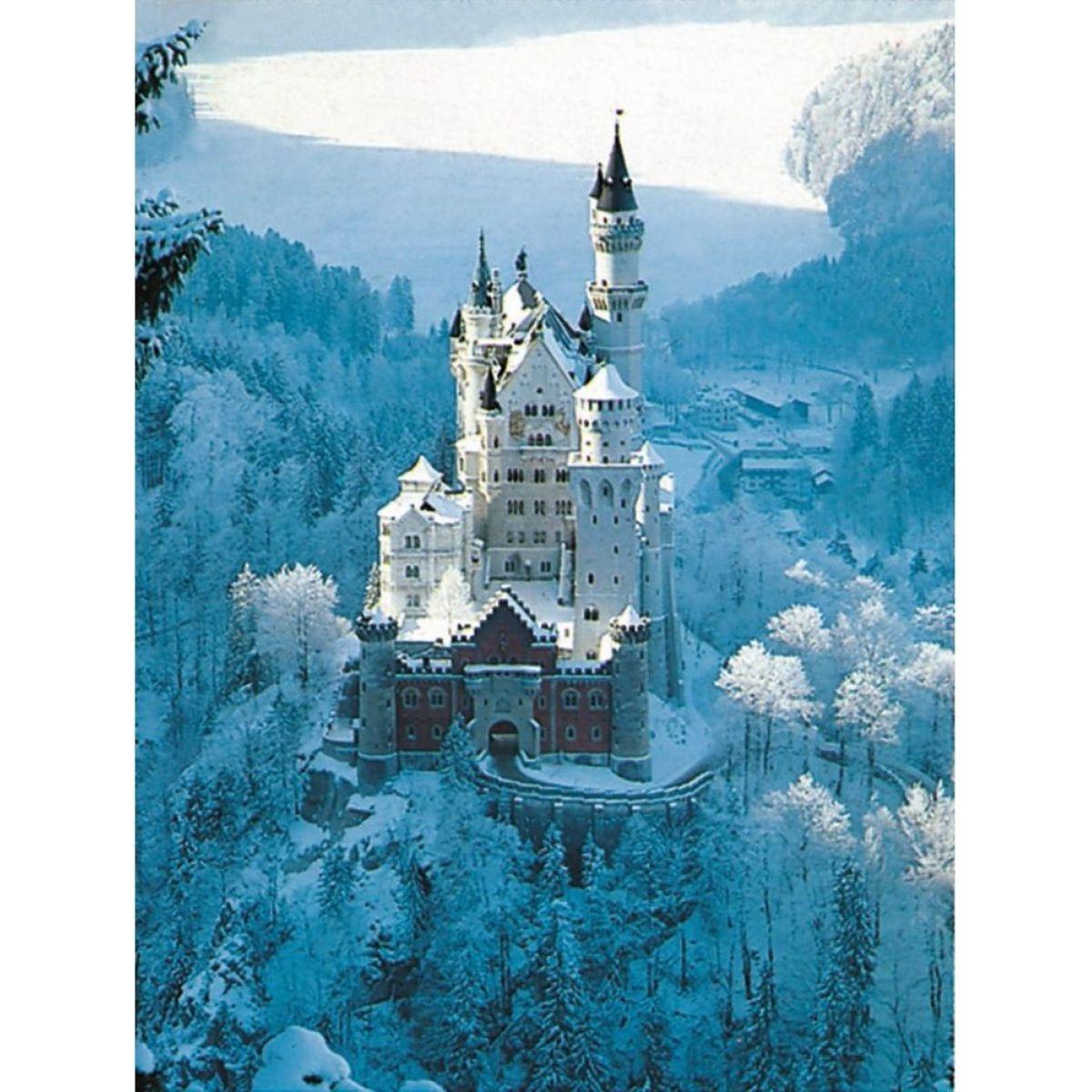 Ravensburger Zámok Neuschwanstein v zime 1500 dílků