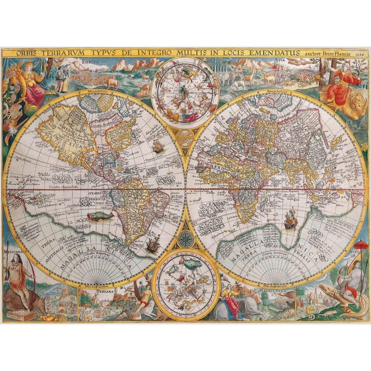Ravensburger Puzzle Historická mapa 1500 dielikov