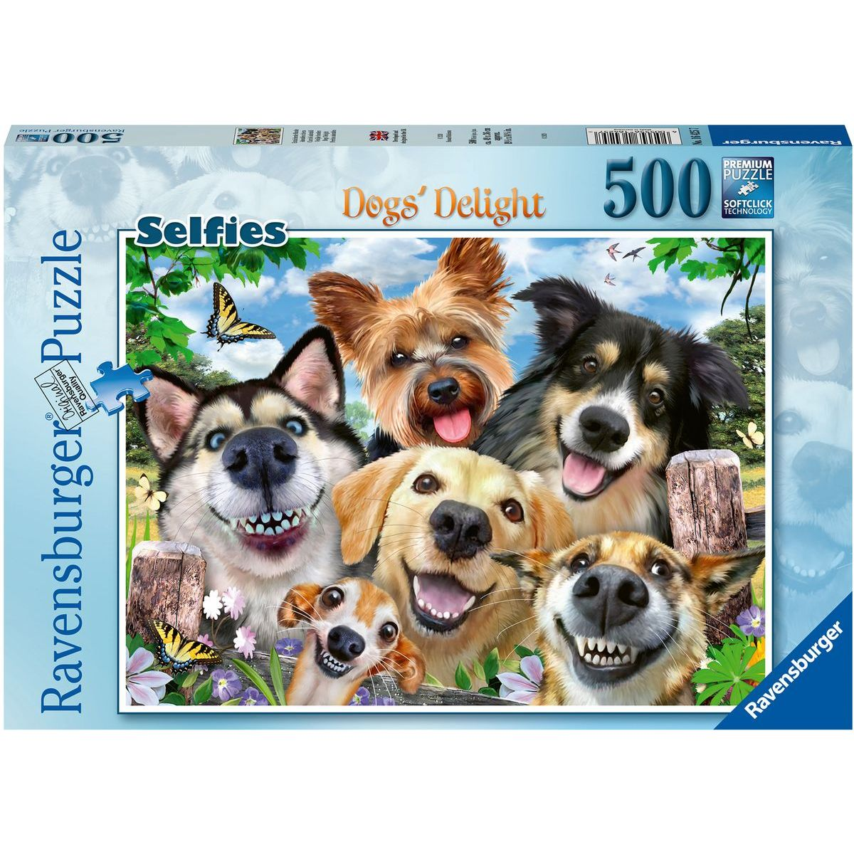 Ravensburger puzzle 164257 Selfie psy 500 dielikov