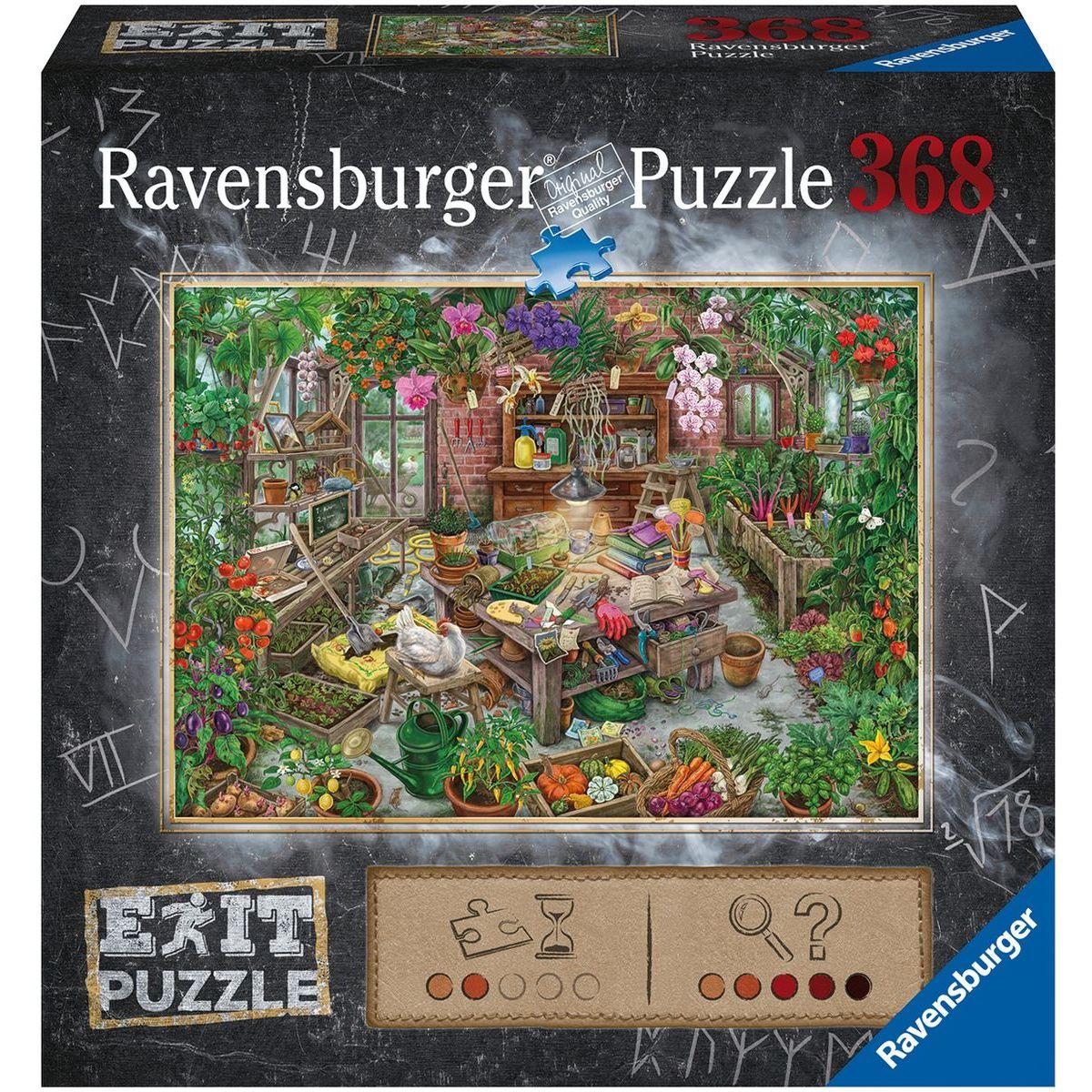 Ravensburger puzzle 164837 Exit Puzzle Skleník 368 dielikov