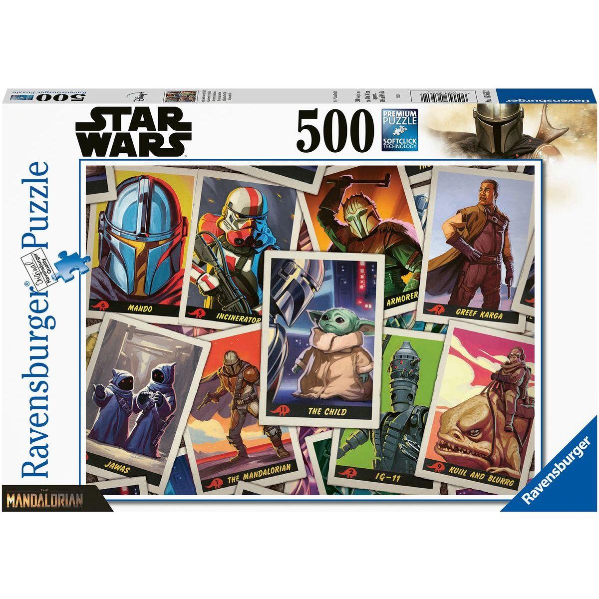Ravensburger puzzle 165612 The Mandalorianov - Baby Yoda 500 dielikov