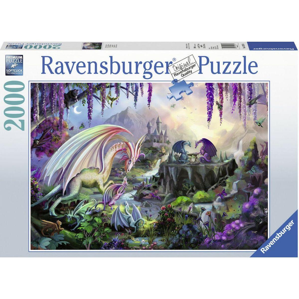 Ravensburger puzzle 167074 Dragon Valley 2000 dielikov