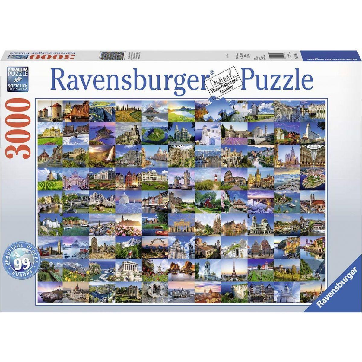 Ravensburger puzzle 170807 99 krásne miesta 3000 dielikov