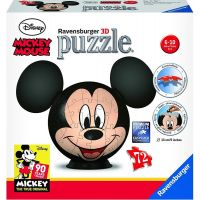 Ravensburger Puzzle 3D 117611 Disney Mickey Mouse puzzleball 72 dílků