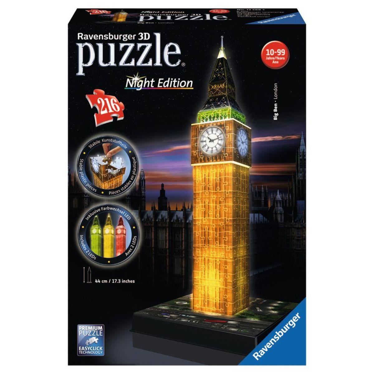 Ravensburger 3D puzzle Big Ben Nočná Edícia 216 dielikov