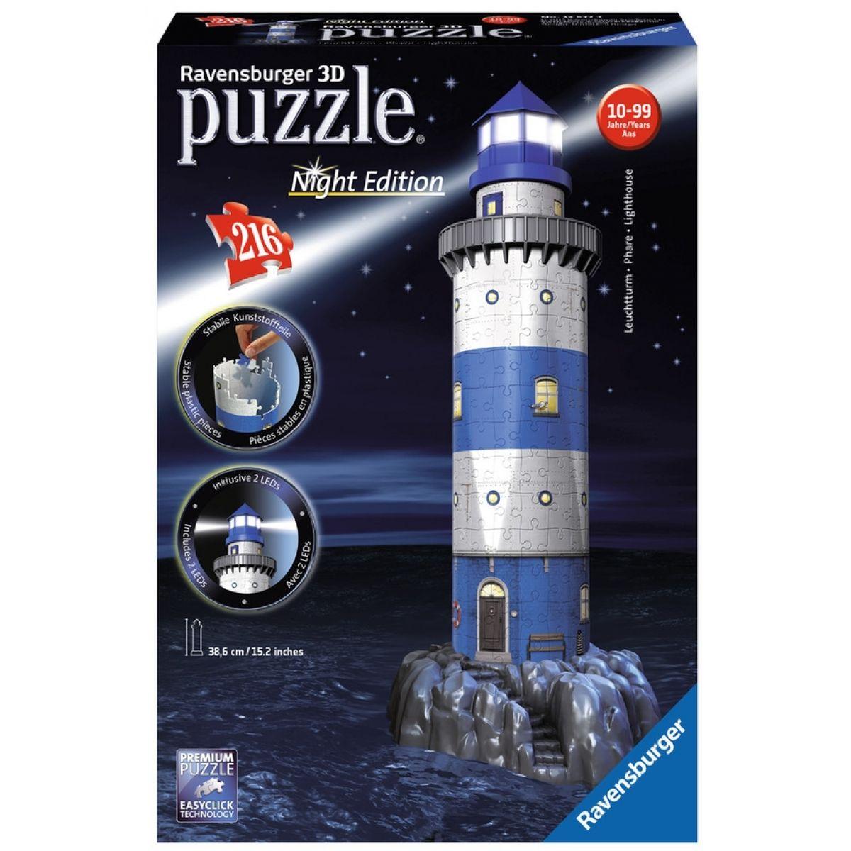 Ravensburger 3D puzzle svietiace Nočná maják 216 dielikové