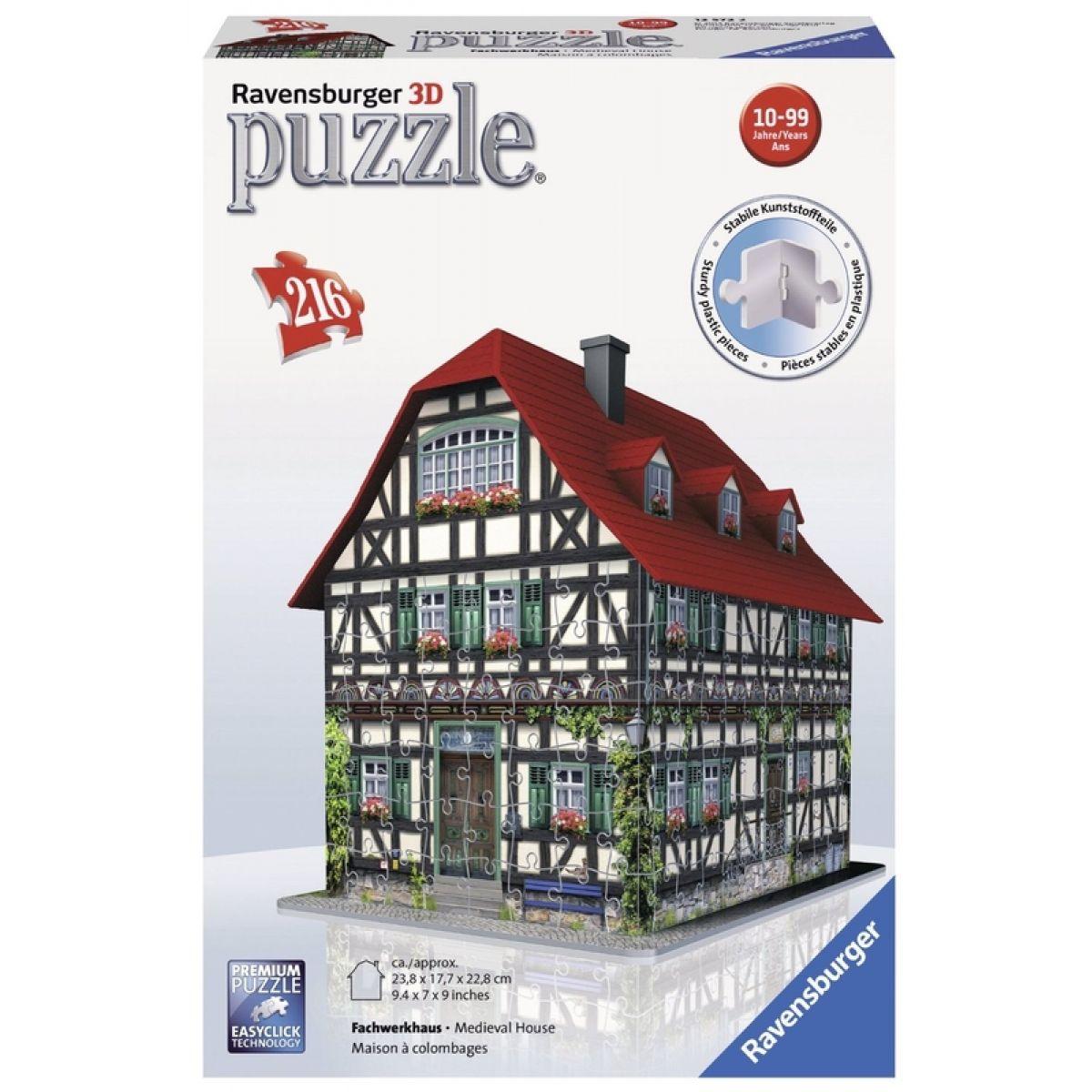 Ravensburger 3D puzzle Hrázděný dům 216 dielikov