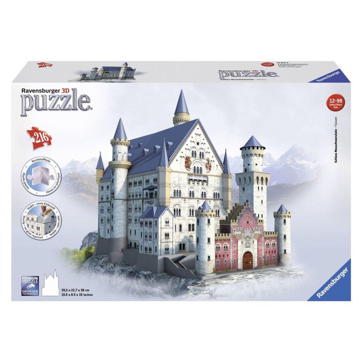Ravensburger 3D puzzle Neuschwanstein 216 dielikov