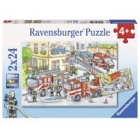Ravensburger Puzzle Hasiči 2 x 24 dielikov
