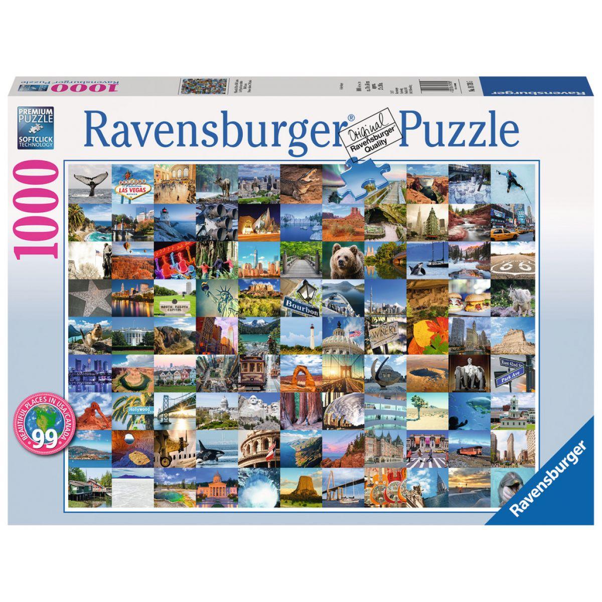 Ravensburger 99 Beautiful Places USA/Canada 1000 dielov