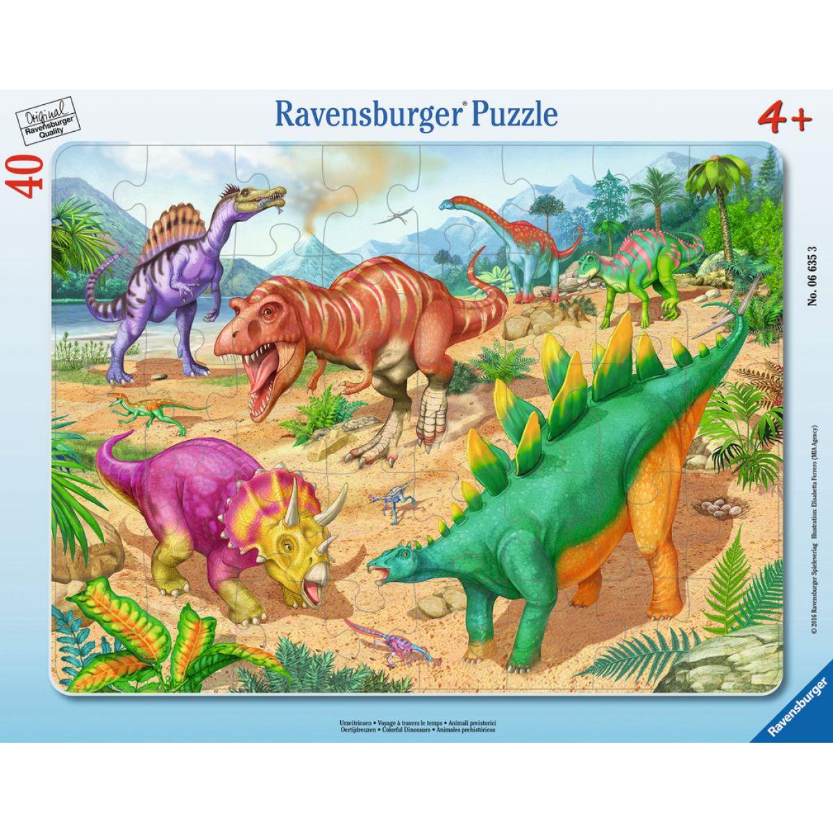 Ravensburger Barevní dinosauři 40 dílků