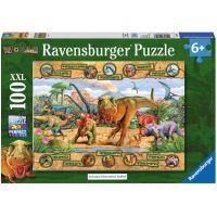 Ravensburger Puzzle Dinosaury 100 XXL dielikov