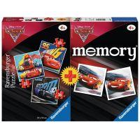 Ravensburger Puzzle Disney 69262 Autá 3 mini memory a puzzle 25,36,49 dielikov